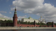 Stock Video Footage of gun at the walls of the Kremlin and the photographer
