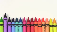 Crayons stop motion V1 - HD - stock footage