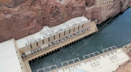Stock Video Footage of Hoover Dam from above