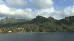 Huahine view 16 Stock Footage