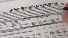 Stock Video Footage of Loan application - HD