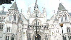 Royal Courts of Justice 2 60i Stock Footage