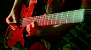 Electric guitar Stock Footage