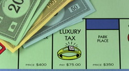 Stock Video Footage of Monopoly LUXURY TAX V2 - HD
