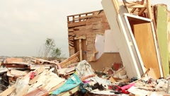 Destroyed House and Contents of House After Tornado (HD) c - stock footage