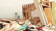 Stock Video Footage of Destroyed House and Contents of House After Tornado (HD) c