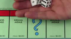 Monopoly CHANCE dice throw - HD Stock Footage