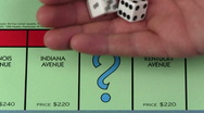 Stock Video Footage of Monopoly CHANCE dice throw - HD