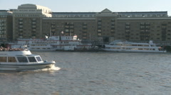 Sightseeing Boat on the River Thames 60i - stock footage