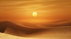 Desert sunset Stock Footage