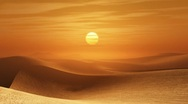 Stock Video Footage of desert sunset