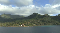 Huahine view 18 Stock Footage