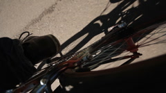 Walk on the bicycle Stock Footage