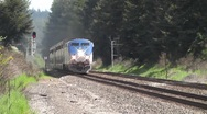 Blue Passenger Train Stock Footage