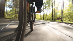 walk on the bicycle - stock footage