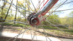 Stock Video Footage of walk on the bicycle