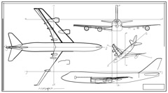 Aircraft Technical Drawing Time Lapse HD Stock Footage
