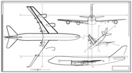 Stock Video Footage of Aircraft Technical Drawing Time Lapse HD