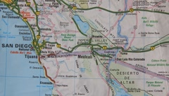 Topographical map of the USA. National boundary Stock Footage