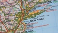 Topographical map of the USA. New York Footage
