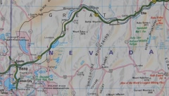 Topographical map of the USA. Nevada Stock Footage