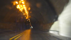 Driving Through Freeway Tunnel Stock Footage