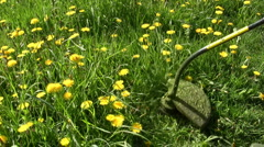 Weed trimmer - stock footage