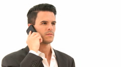 Businessman on the phone Stock Footage