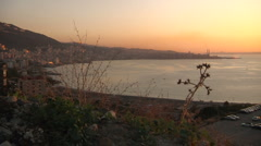 Beirut bay in sunset Stock Footage