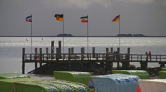 Halligen, Foehr Island, North Sea, Germany Stock Footage