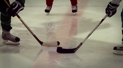 Ice Hockey Faceoff Stock Footage