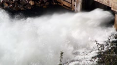 Sluice gate flood water Stock Footage