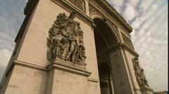 Stock Video Footage of Paris France Arc De Triomphe