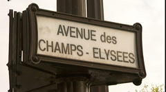 Paris Champs - Elysees Stock Footage