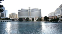 Bellagio water show part 2 Stock Footage