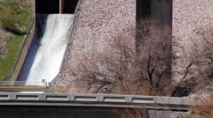 Spillway with spring runoff Stock Footage