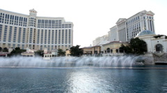 Bellagio water show Stock Footage
