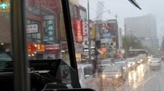 Toronto's 505 Dundas Streetcar Eastbound Passenger View Stock Footage