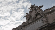 Stock Video Footage of Trevi's Fountain Time Lapse and Cloud - HD1080