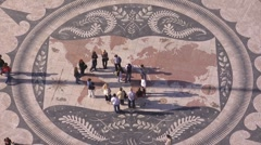 Mosaic of the world, Lisbon, Portugal Stock Footage