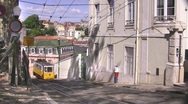 Stock Video Footage of Tram, Lisbon, Portugal