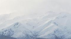 Snow blow over ridge Stock Footage