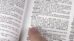 Dictionary terms BABY V2 - HD Stock Footage