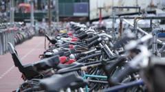 Amsterdam Bikes 01 HD Stock Footage