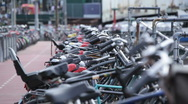 Stock Video Footage of Amsterdam Bikes 01 HD