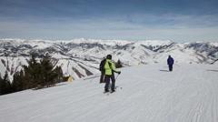 Winter Resort Skiing POV 4878 Stock Footage