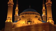 Mohammad al Amin Mosque Stock Footage