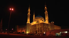 Mohammad al Amin Mosque Stock Footage