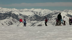 Winter Ski Resort 4924b Stock Footage