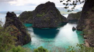 Stock Video Footage of Coron lagoon landscape